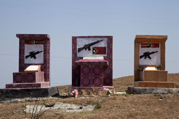 Picture of Tombs of fallen fighters in the mountains of East TimorBobonaro District - Timor-Leste