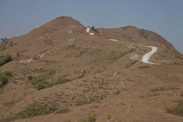 Picture of Road from Suai to Oeleu (Timor-Leste): The main road from Suai to Oeleu over the mountains of western East Timor
