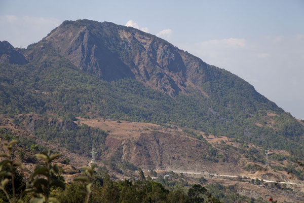 Picture of Road from Suai to Oeleu (Timor-Leste): Mountain rising from the landscape in western Timor-Leste