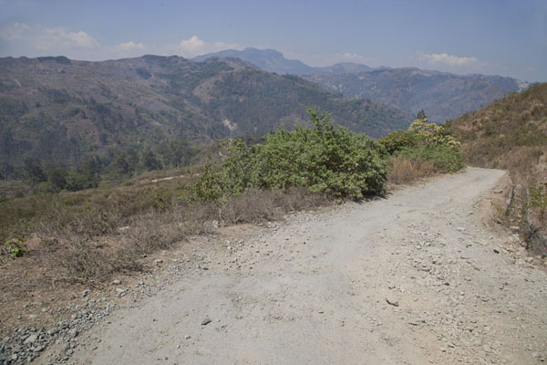 Picture of Road from Suai to Oeleu (Timor-Leste): The gravel road through the mountains of western Timor-Leste