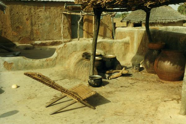 Picture of Esthetic shapes in a Togolese villageLomé - Togo
