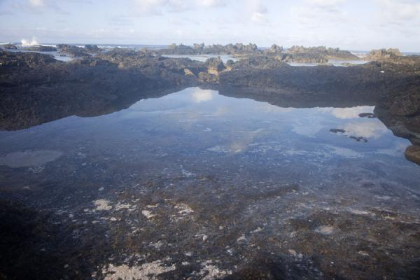 Picture of Reflection of the clouds on the western coast of 'Eua island'Eua - Tonga
