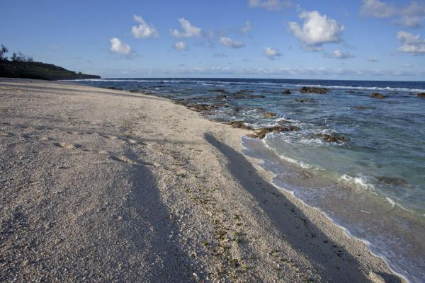 Picture of 'Eua island (Tonga): Morning light on the white beach of Falateha on the west side of 'Eua island