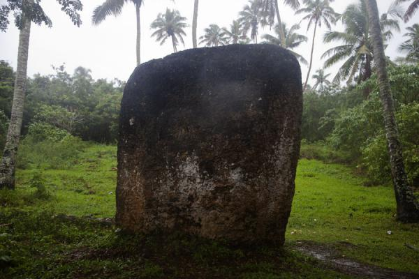 Picture of Close-up of the backrest of the kingNiutoua - Tonga