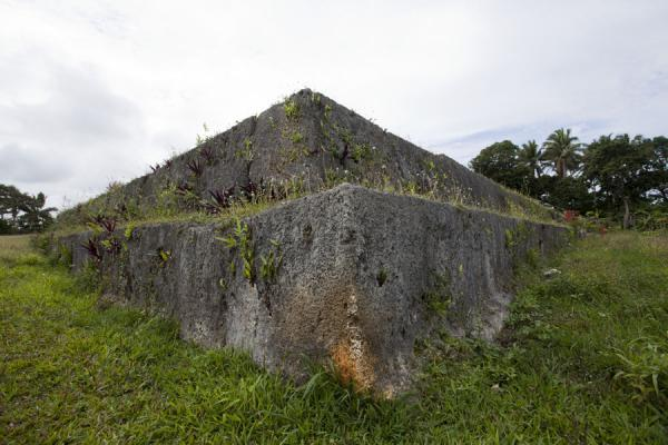 Huge limestone slabs make up the platform of Paepae o' Tele'a | Lapaha Langi | Tonga