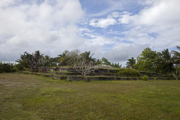 View of the Langi Namoala from a distance | Lapaha Langi | Tonga