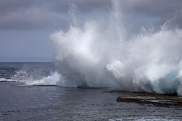 Enormous spray of water flying into the air | Mapu a Vaea Blowholes | Tonga