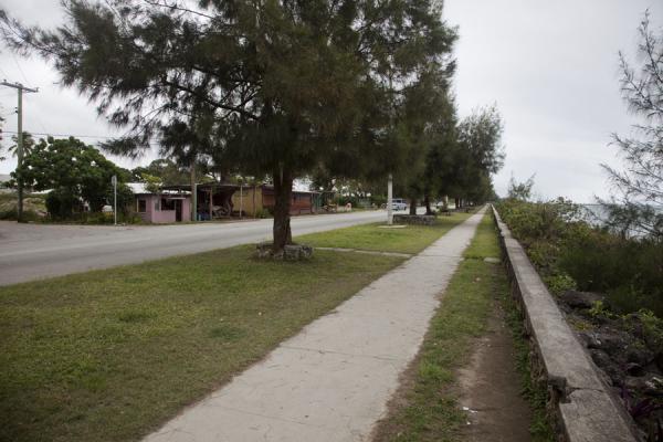 Picture of Nuku'alofa (Tonga): Walkway and road running along the coastline of Nuku'alofa