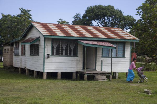 Picture of Nuku'alofa (Tonga): Typical one-story house in Nuku'alofa