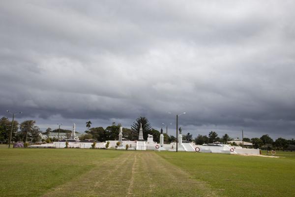 Picture of Nuku'alofa (Tonga): The Royal Tombs under a grey sky
