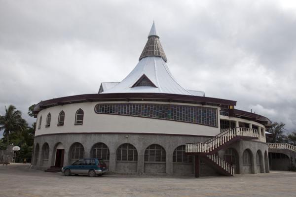 Picture of Nuku'alofa (Tonga): Circular building in Nuku'alofa