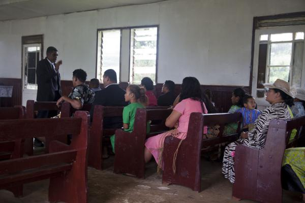 Picture of Tongan church services (Tonga): Singing during a service on 'Eua island
