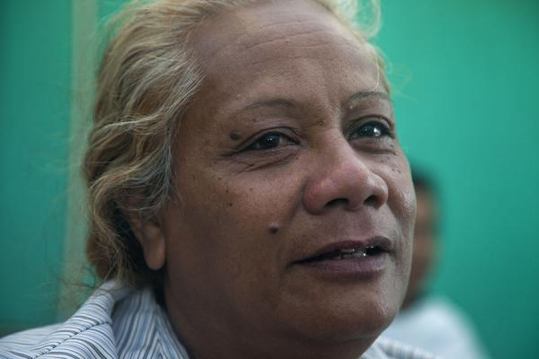 The woman who danced for me on the boat between Neiafu and Nuku'alofa | Les Tonganais | Tonga