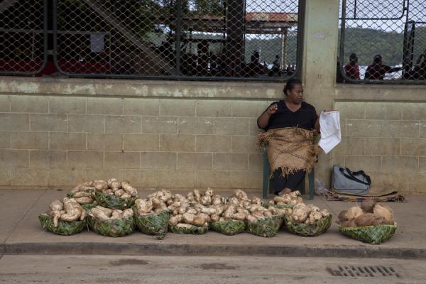 Picture of Market woman on the market of Neiafu
