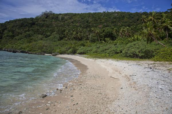 Picture of Vava'u Island (Tonga): Deserted white beach on the north of Vava'u