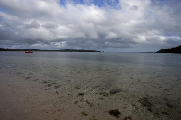 Picture of Vava'u Island (Tonga): Coastal panorama seen from one of the beaches of Vava'u