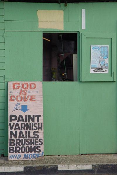 God as a selling point | Trinidad signs | Trinidad & Tobago