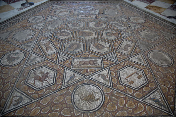 Picture of Bardo National Museum (Tunisia): Astrological mosaic in the Bardo Museum