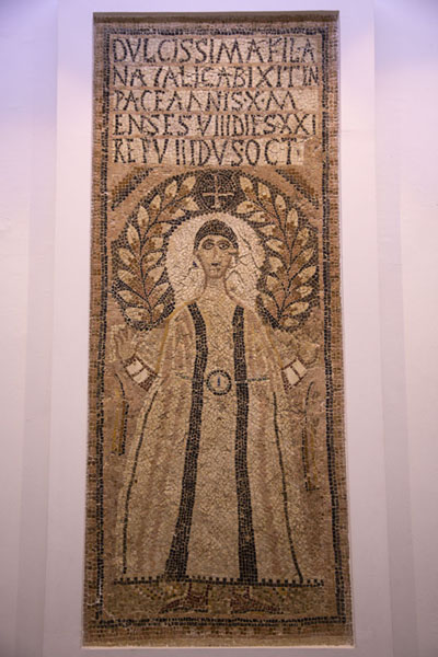 One of the mosaics from the Byzantine period in the Bardo Museum | Bardo Museum | Tunesië