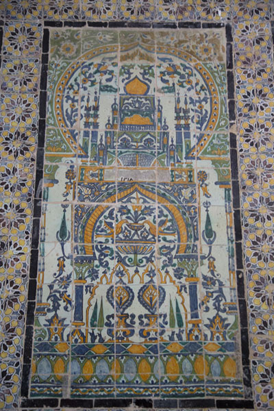 Picture of Bardo National Museum (Tunisia): Colourful tiles on display in the Virgil Room of the Bardo Museum