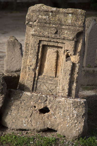 Tombstone of the Punic cemetery, or tophet, where infants were buried | Punic Carthage | Tunisia
