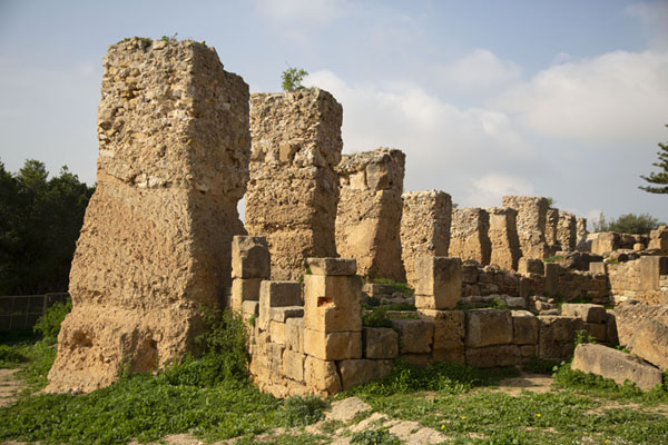 Ruins of a Punic house with Roman-built structures on top | Punic Carthage | Tunisia