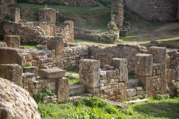Side view of the ruins of the Punic quarter of Carthage - 突尼西亚