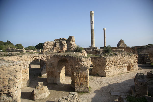 Picture of The Baths of Antoninus were the largest ever built in AfricaCarthage - Tunisia