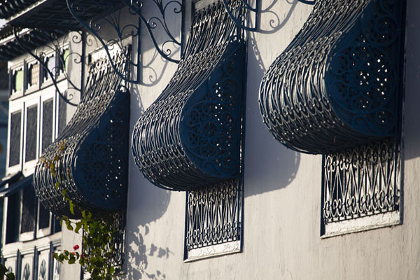 Blue windows with iron bars | Sidi Bou Said | Tunesië