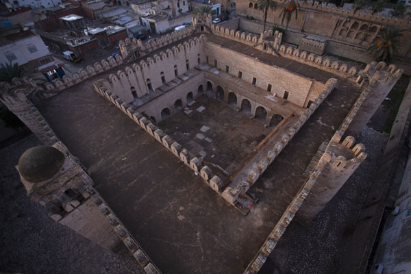Looking down on the Ribat of Sousse from its tower | Sousse medina | Tunisia