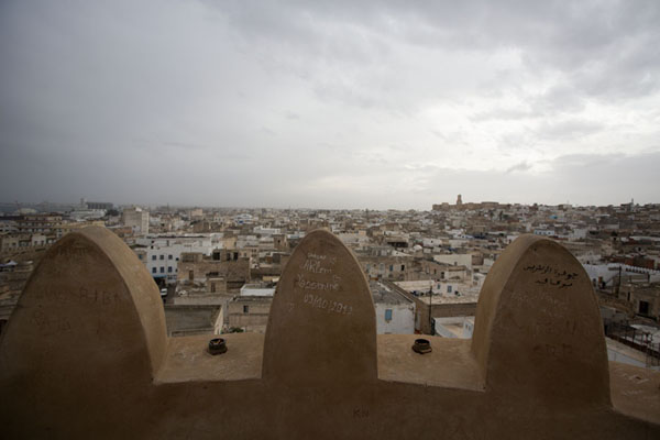 Foto di View over the old medina of Sousse from the top of the tower of the RibatSousse - Tunisia