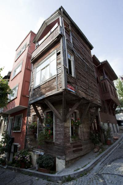 Picture of Corner of one of the many small streets in ArnavutköyIstanbul - Turkey