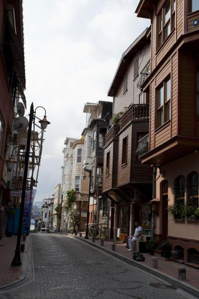 Picture of Street with typical houses in ArnavutköyIstanbul - Turkey