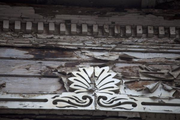 Picture of Detail of an old house with blistering paint in ArnavutköyIstanbul - Turkey