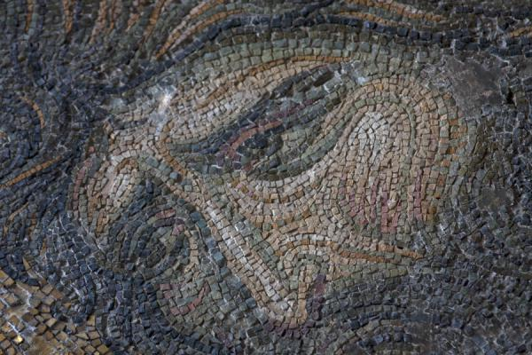 Picture of Detail of John the Baptist, part of the Deësis mosaics on the eastern gallery in the Aya Sofia