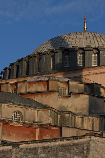 Picture of Aya Sofia (Turkey): Cupola on top of cupola: early morning sunlight shining on the majestic Aya Sofia structure