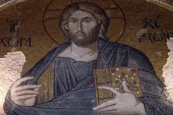 The first mosaic you see when you enter: Jesus Christ himself | Chora Museum | Turkey