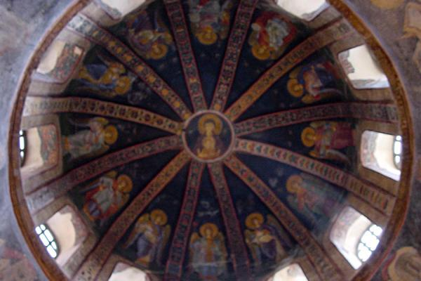 Picture of Chora Museum (Turkey): Cupola of parecclesion, fresco, Chora museum