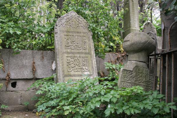 One of the many tombstones in the cemetery of Eyüp | Eyüp Sultan Mosque | Turkey