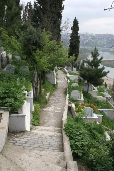 One of the many lanes on the cemetery of Eyüp | Eyüp Sultan Mosque | Turkey
