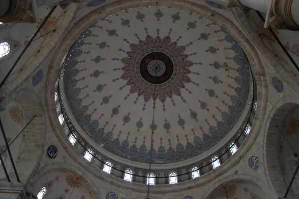 Foto van The main cupola of the mosque of EyüpMoskee Sultan Eyüp - Turkije