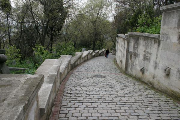 Picture of Walking down a principal street of the cemetery of Eyüp
