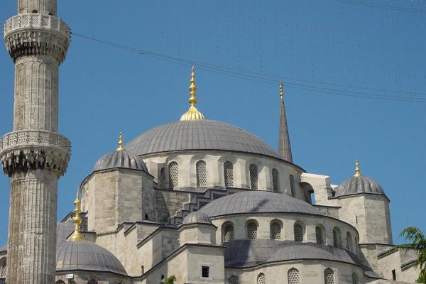 Close-up of domes at the Blue Mosque | Blue Mosque | Turkey