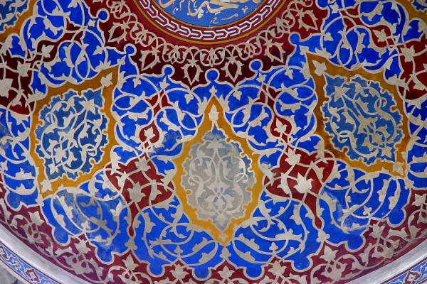 Close-up of the decorations inside | Blue Mosque | Turkey