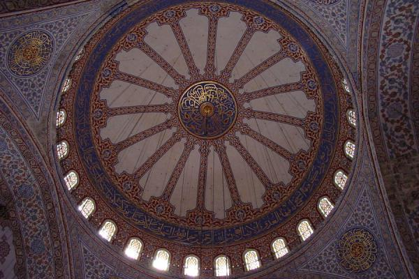 The main dome from below | Blue Mosque | Turkey