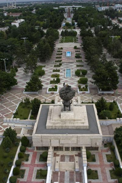 View from the Arch of Neutrality: Independence Square | Arch of Neutrality | Turkmenistan