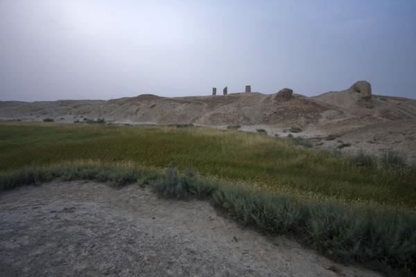 Picture of Dekhistan (Turkmenistan): Dekhistan seen from the surrounding moat
