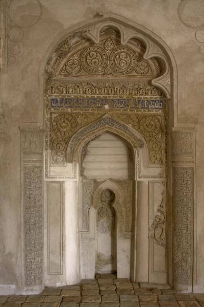 Picture of Dekhistan (Turkmenistan): Mihrab of the oldest mosque of Turkmenistan, Shir-Kebir