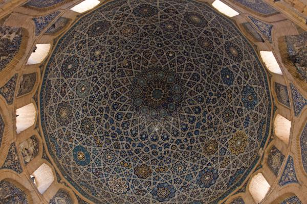 The dazzling ceiling of the Turabeg Khanum complex | Konye-Urgench | 土库曼苏维埃社会主义共和国