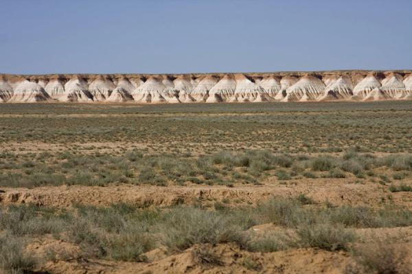 Foto di Typical red-and-white formations of Yangykala CanyonYangykala - Turkmenistan